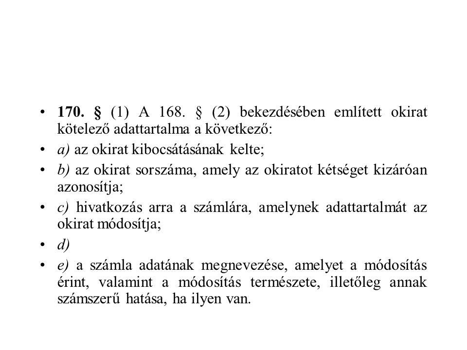170.§ (1) A 168.