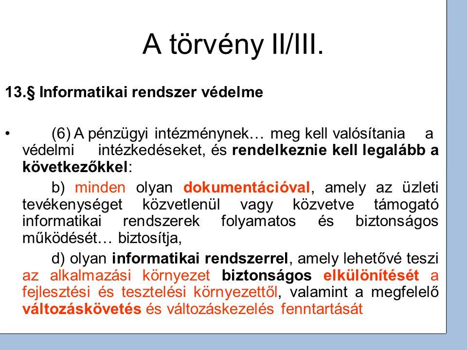 3 A törvény II/III.