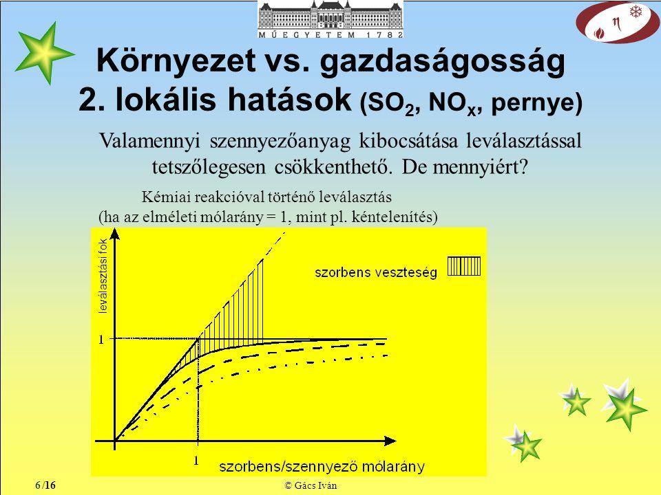 /16 © Gács Iván Környezet vs. gazdaságosság 2.