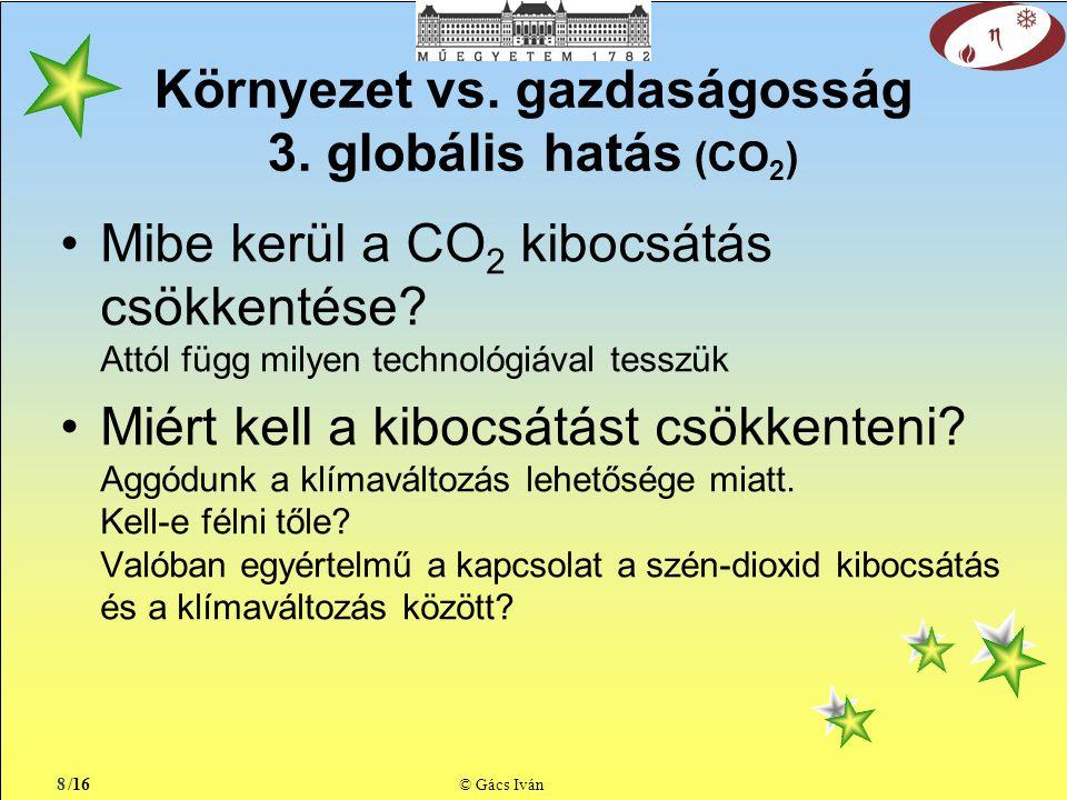 /16 © Gács Iván Környezet vs. gazdaságosság 3.