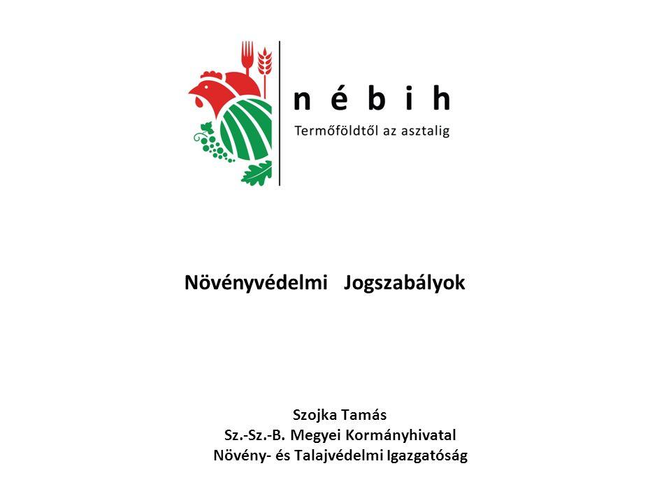 Kapcsolódó növényvédelmi magyar jogszabályok az élelmiszerláncról és hatósági felügyeletéről szóló 2008.
