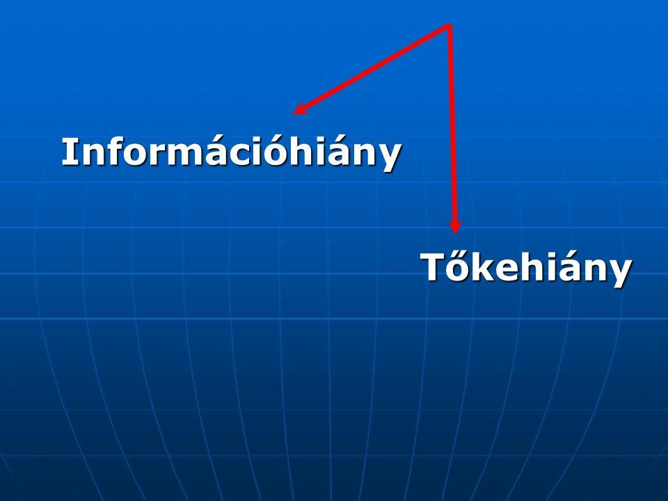 Tőkehiány Információhiány