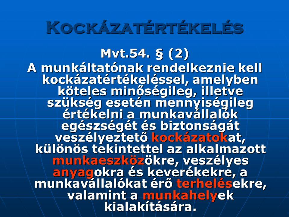Kockázatértékelés Mvt.54.