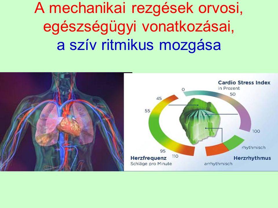 A mechanikai rezgések orvosi, egészségügyi vonatkozásai, a szív ritmikus mozgása