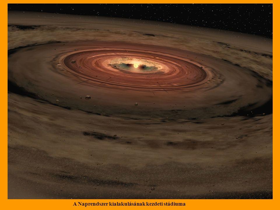 A Naprendszer kialakulásának kezdeti stádiuma