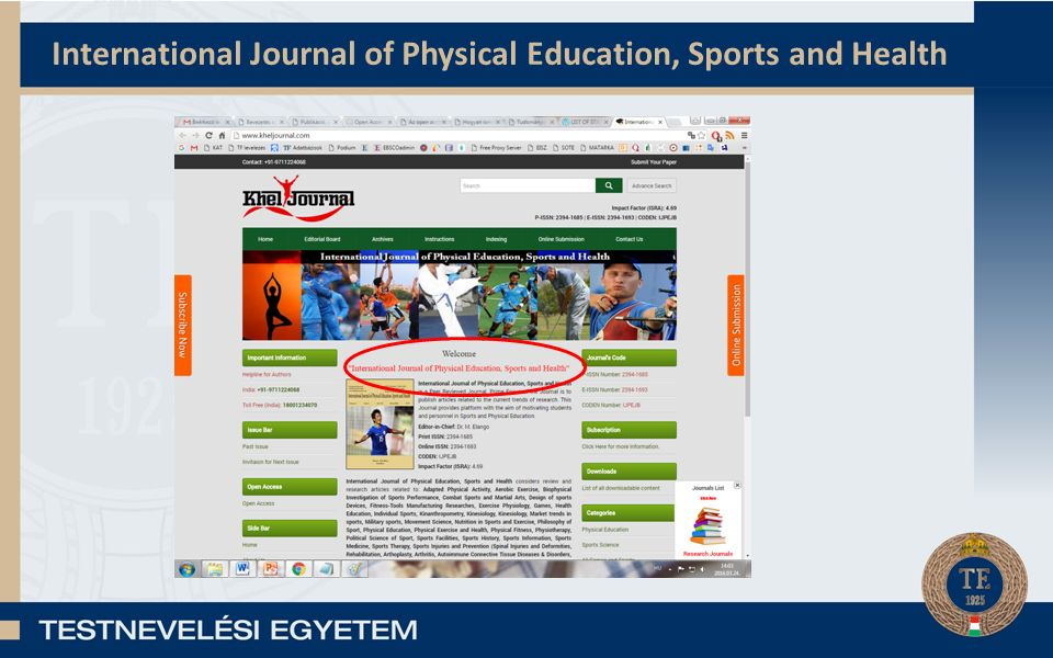 International Journal of Physical Education, Sports and Health