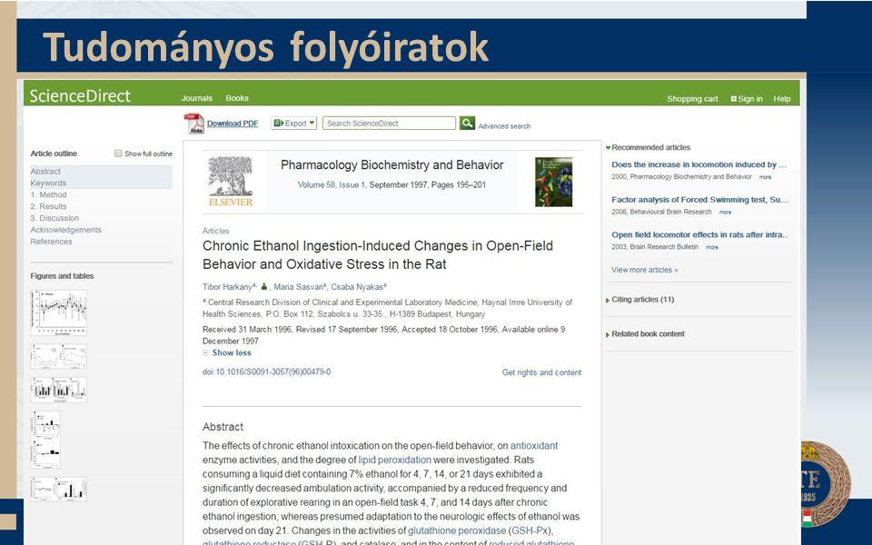 Tudományos folyóiratok