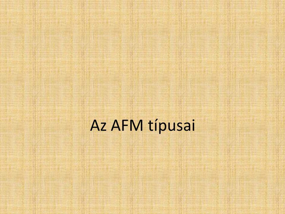 Az AFM típusai