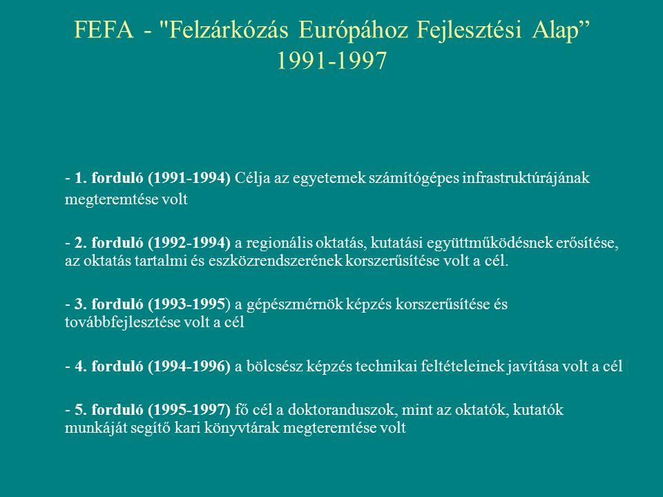 FEFA - Felzárkózás Európához Fejlesztési Alap 1991-1997 - 1.