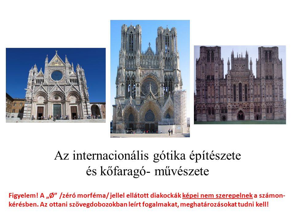 Az internacionális gótika építészete és kőfaragó- művészete Figyelem.