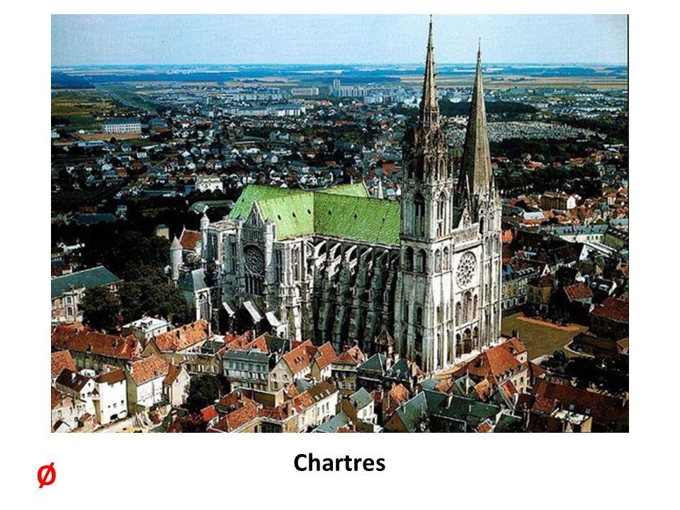 Chartres katedrálisa.1195- ben fejezik be az építését.