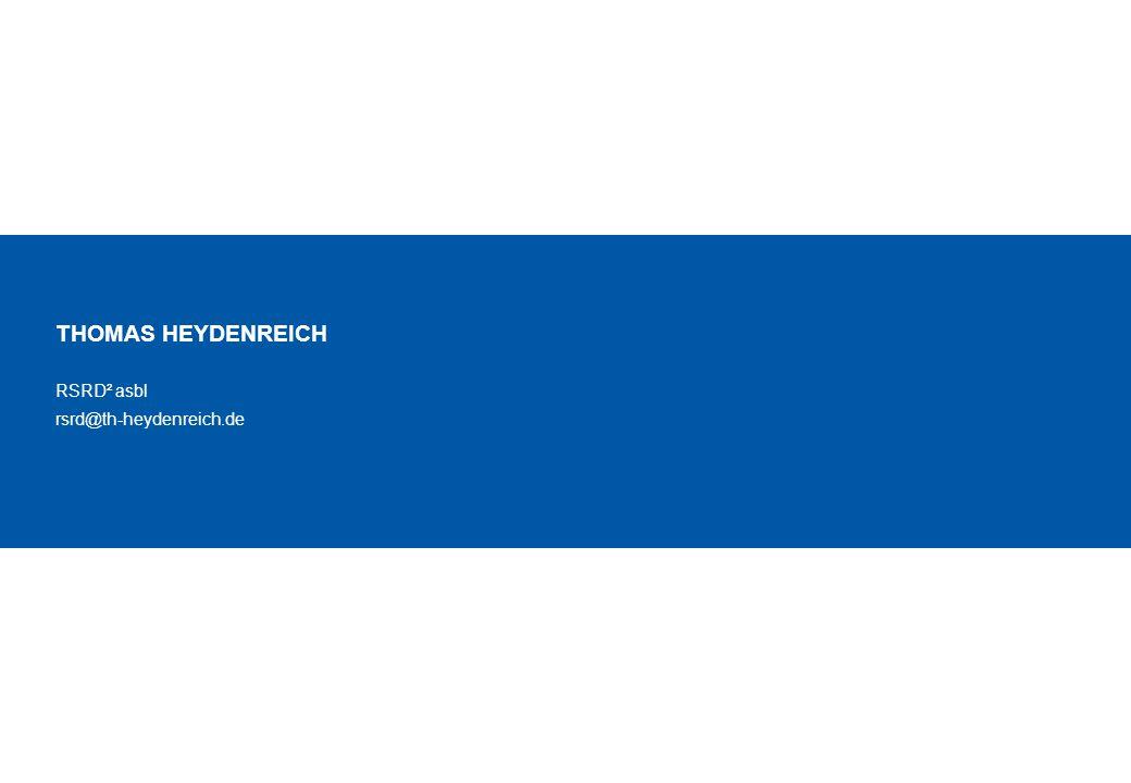 12 20151130 MVMSZ RSRD Presentation.ppt © RSRD² ASBL THOMAS HEYDENREICH RSRD² asbl rsrd@th-heydenreich.de