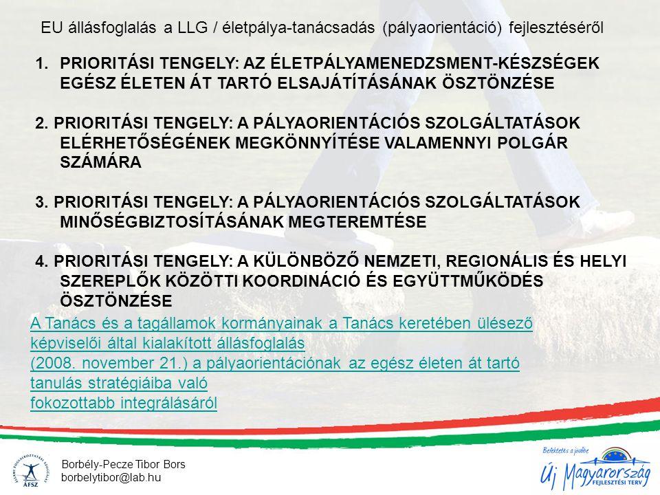 Borbély-Pecze Tibor Bors borbelytibor@lab.hu A Tanács és a tagállamok kormányainak a Tanács keretében ülésező képviselői által kialakított állásfoglalás (2008.