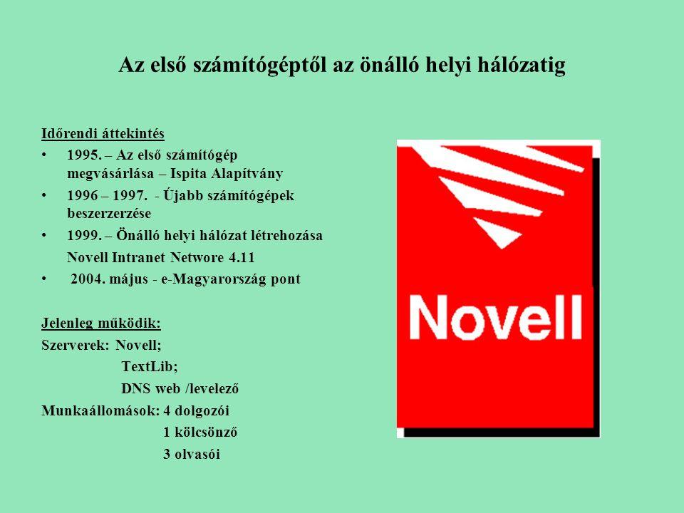 integrált könyvtári rendszer Fejlesztői: Infoker Számítástechnika-alkalmazási Szövetkezet Bp.
