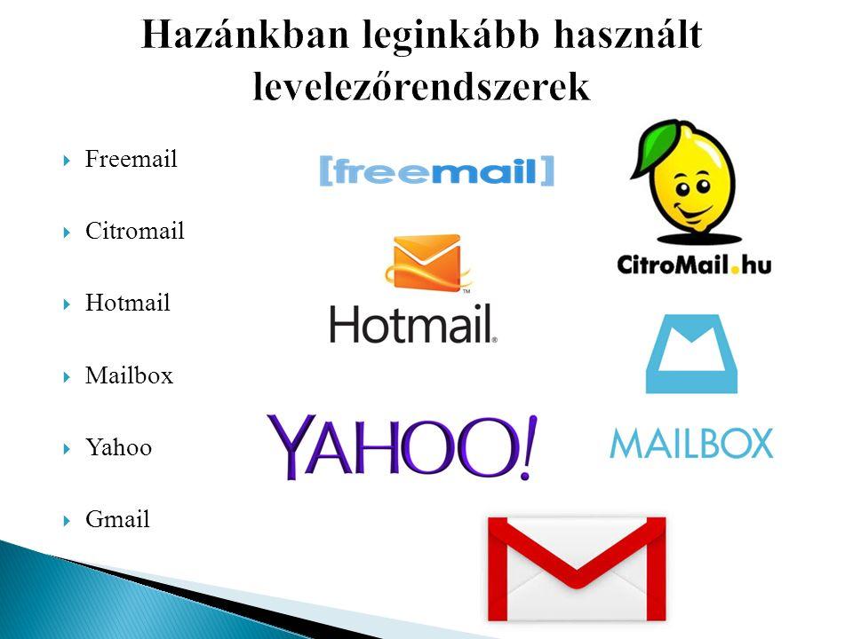  Freemail  Citromail  Hotmail  Mailbox  Yahoo  Gmail