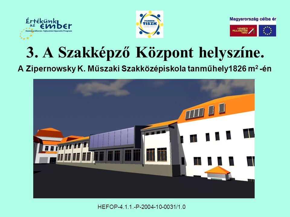 3. A Szakképző Központ helyszíne. A Zipernowsky K.