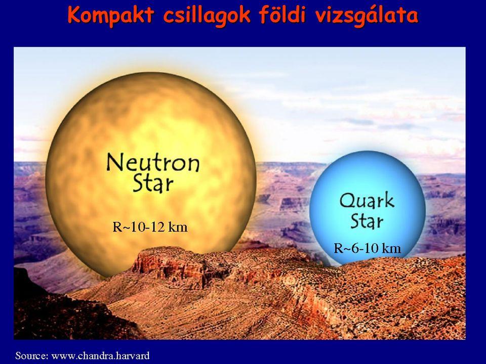 II. Kompakt csillagok megfigyelése Kompakt csillagok földi vizsgálata