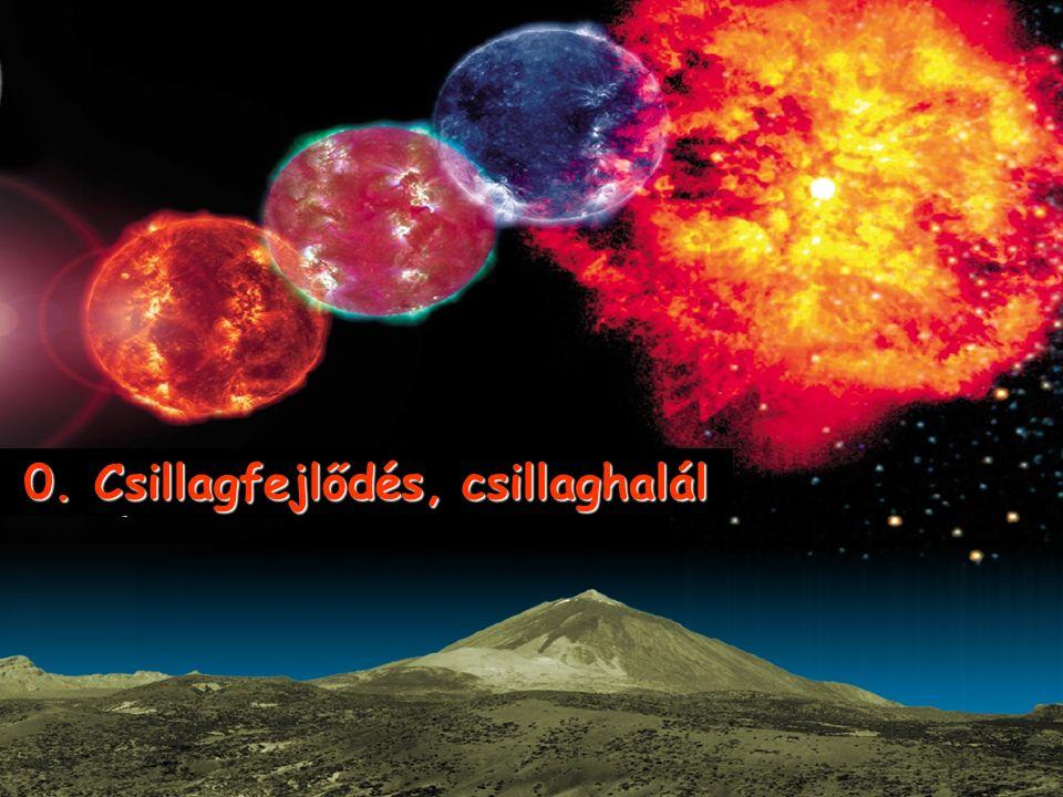 0. Csillagfejlődés, csillaghalál