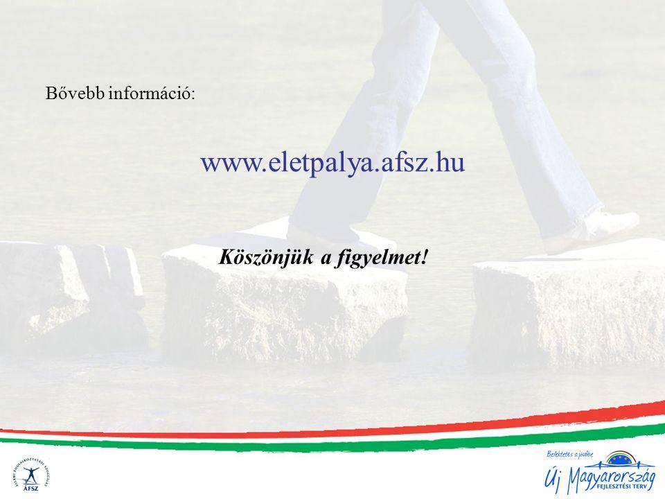 Bővebb információ: www.eletpalya.afsz.hu Köszönjük a figyelmet!