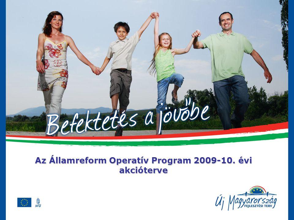 Az Államreform Operatív Program 2009-10. évi akcióterve