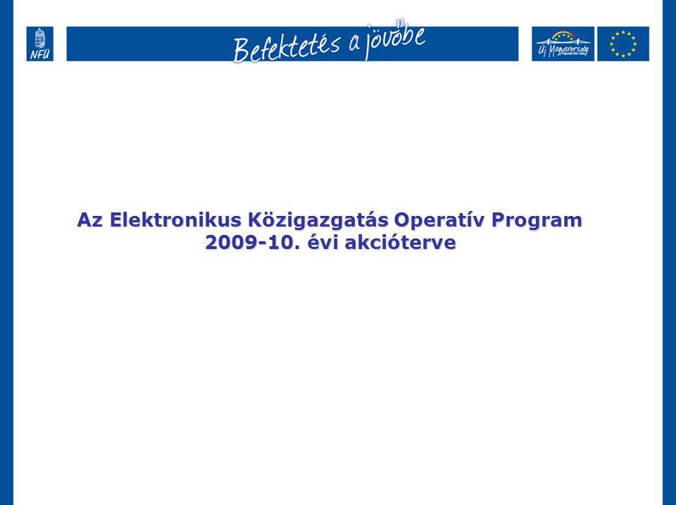 Az Elektronikus Közigazgatás Operatív Program 2009-10. évi akcióterve