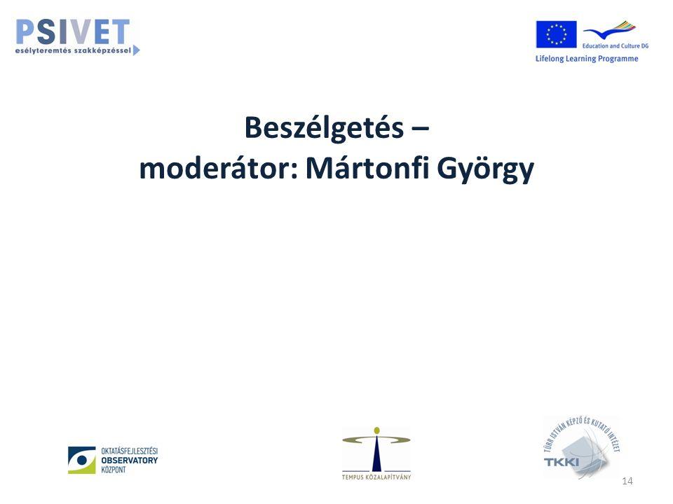 Beszélgetés – moderátor: Mártonfi György 14