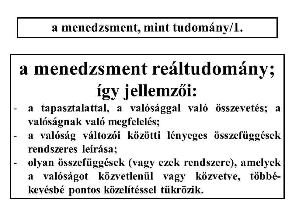 a menedzsment, mint tudomány/1.