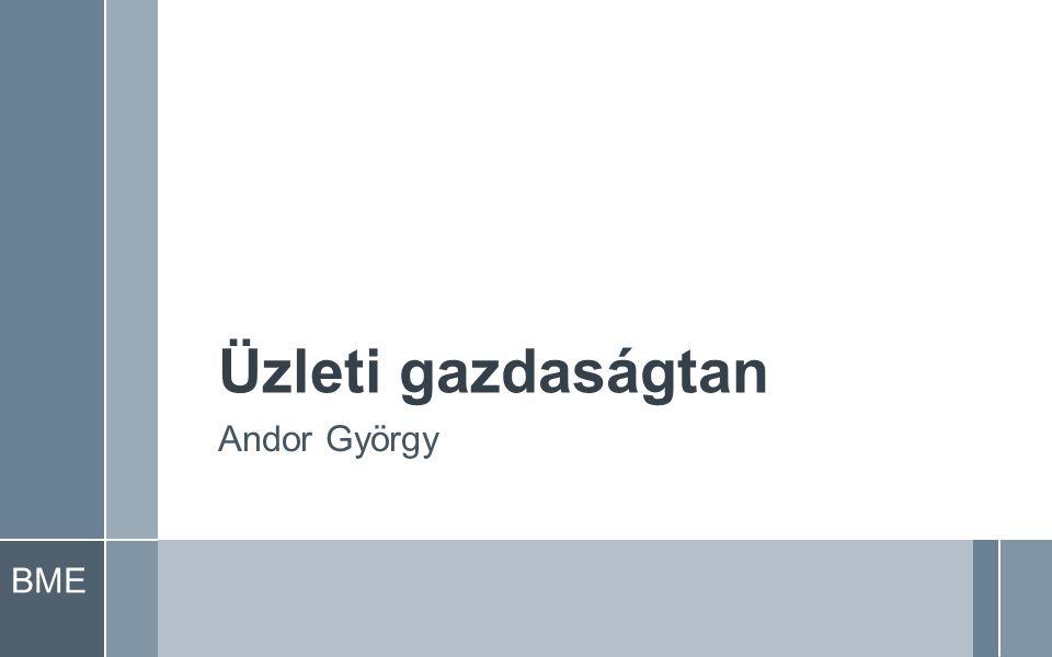 BME Üzleti gazdaságtan Andor György
