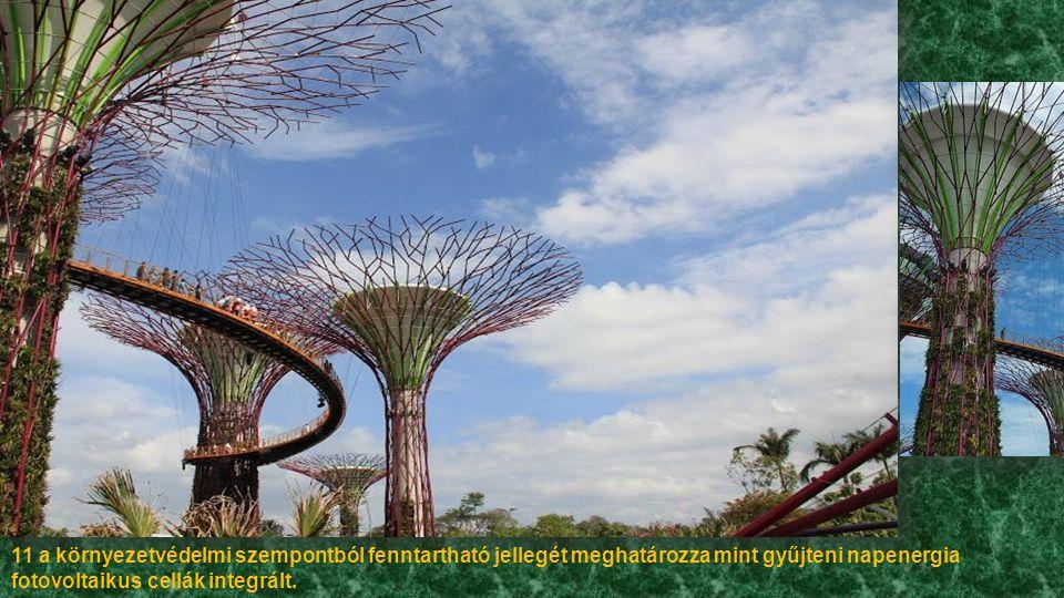 Nagy fák négy részből tevődnek össze:-erősítik vasbeton mag, a törzs, a panelek, a bőr élő, és a növényzet ültetés.