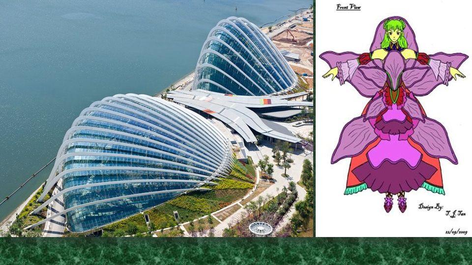 Az üvegházhatást okozó, a kertekben Bay, Singapore, büszkélkedhet két hűtött télikertek - a kupola a virág és a felhő erdő, a Marina reservoir szélén