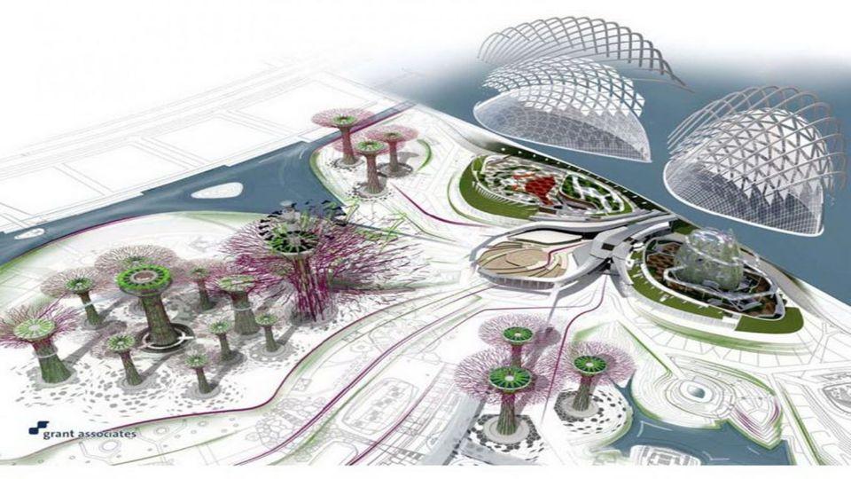 Az üvegházhatást okozó, a kertekben Bay, Singapore, büszkélkedhet két hűtött télikertek - a kupola a virág és a felhő erdő, a Marina reservoir szélén található.