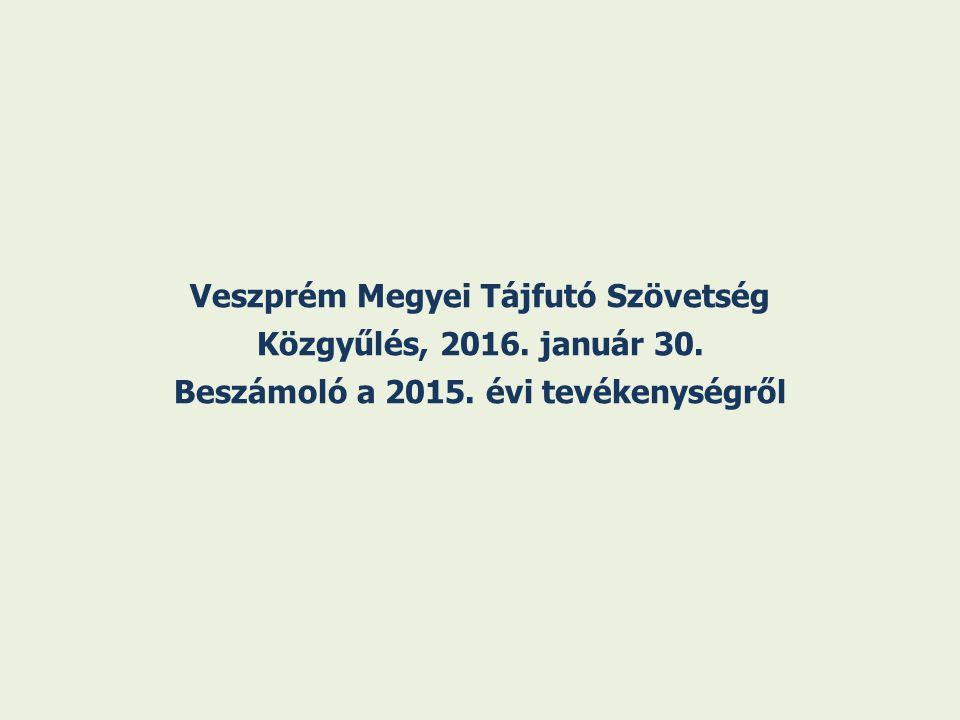Veszprém Megyei Tájfutó Szövetség Közgyűlés, 2016. január 30. Beszámoló a 2015. évi tevékenységről