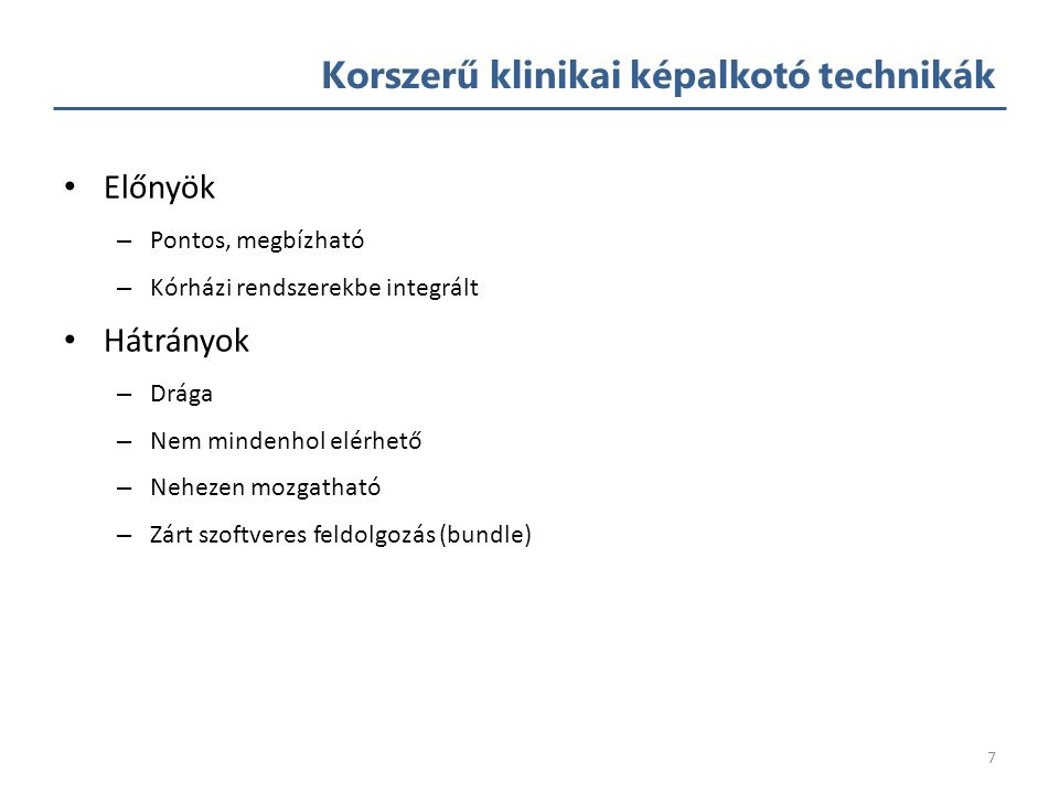 Korszerű klinikai képalkotó technikák 6