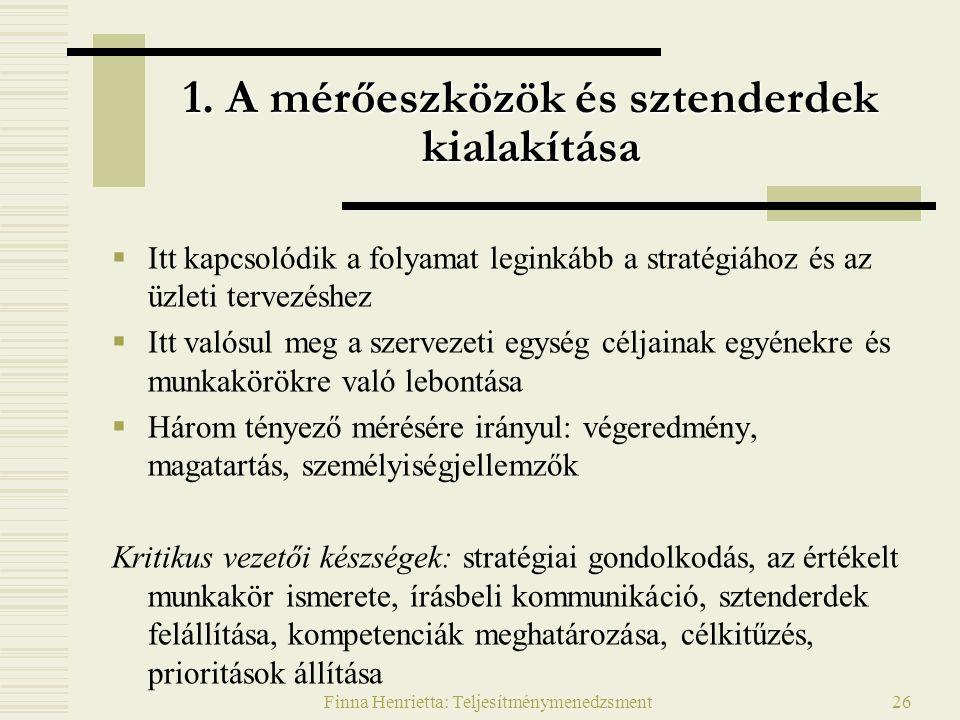 Finna Henrietta: Teljesítménymenedzsment26 1.