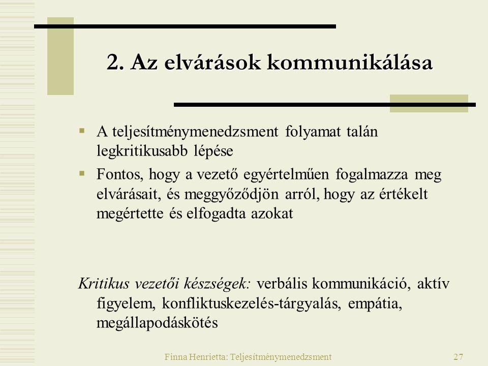 Finna Henrietta: Teljesítménymenedzsment27 2.