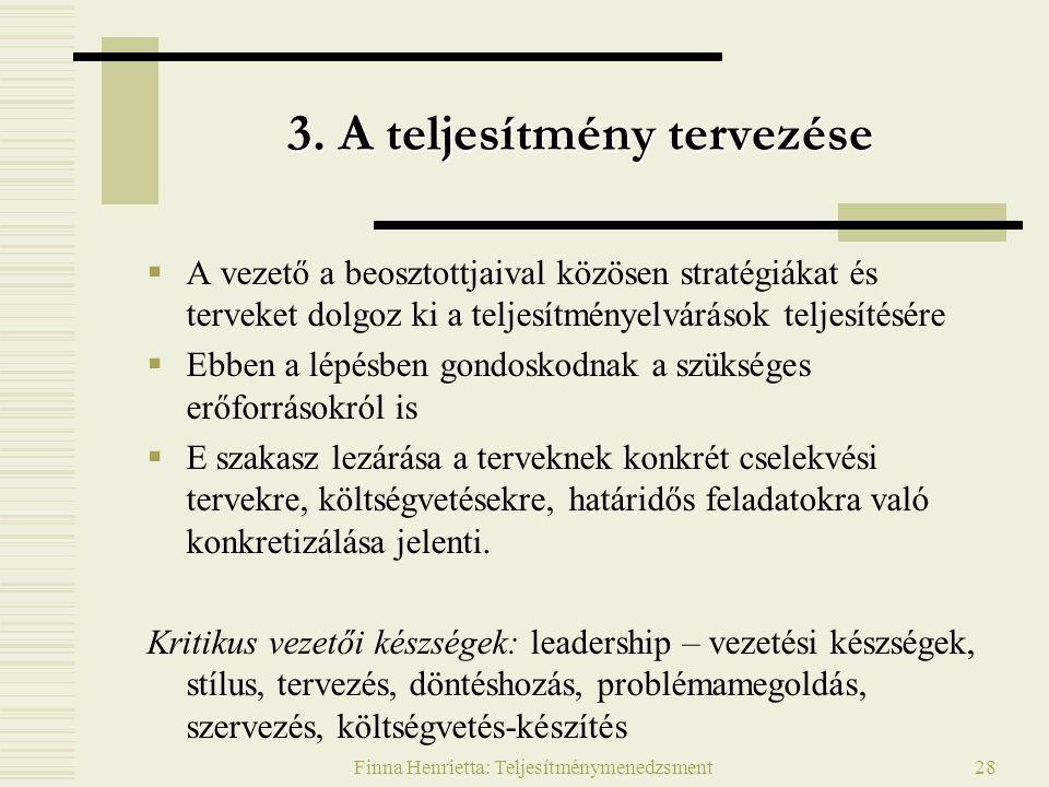 Finna Henrietta: Teljesítménymenedzsment28 3.