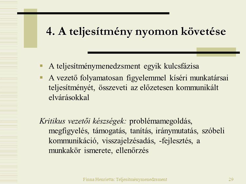Finna Henrietta: Teljesítménymenedzsment29 4.