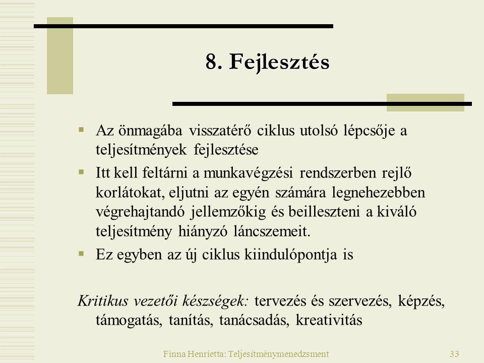 Finna Henrietta: Teljesítménymenedzsment33 8.