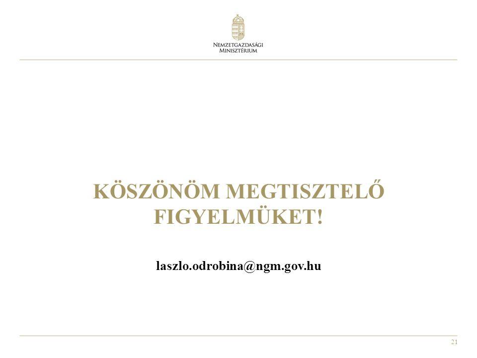 21 KÖSZÖNÖM MEGTISZTELŐ FIGYELMÜKET! laszlo.odrobina@ngm.gov.hu