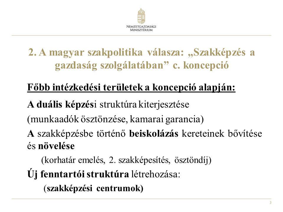 """3 2. A magyar szakpolitika válasza: """"Szakképzés a gazdaság szolgálatában c."""