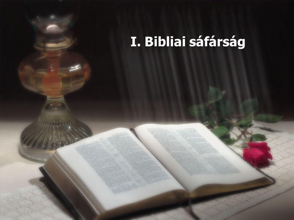 I. Bibliai sáfárság