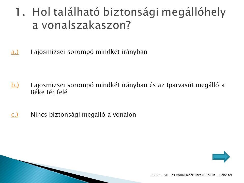 5263 - 50 -es vonal Kőér utca/Üllői út - Béke tér 1.