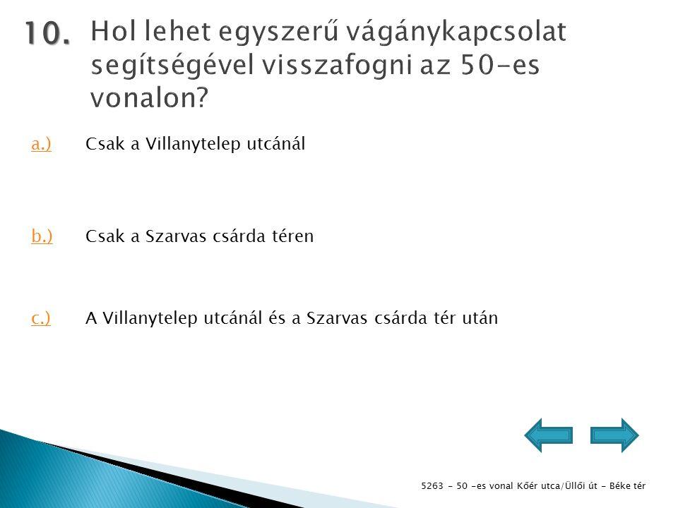 5263 - 50 -es vonal Kőér utca/Üllői út - Béke tér 10.