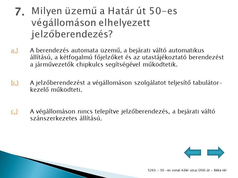 5263 - 50 -es vonal Kőér utca/Üllői út - Béke tér 7.