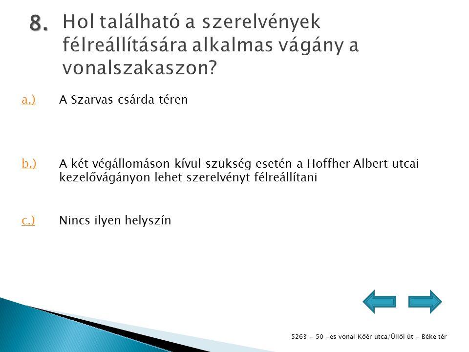 5263 - 50 -es vonal Kőér utca/Üllői út - Béke tér 9.