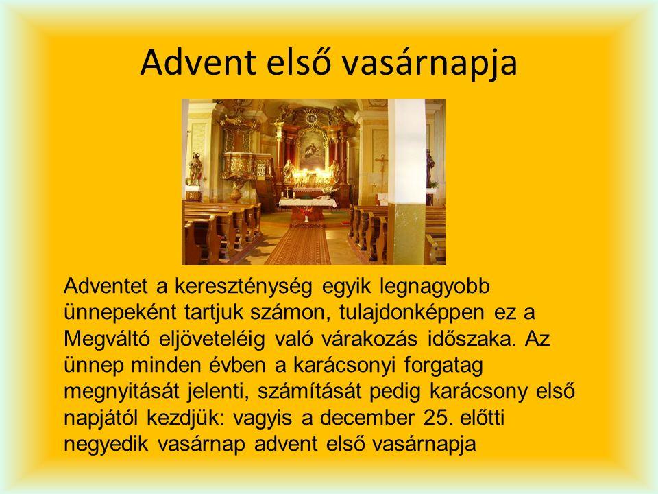 Advent utolsó vasárnapja Advent IV vasárnapjával magunk mögött hagyjuk az adventi szent időt, véget ér a karácsonyt megelőző készülődési időszak.
