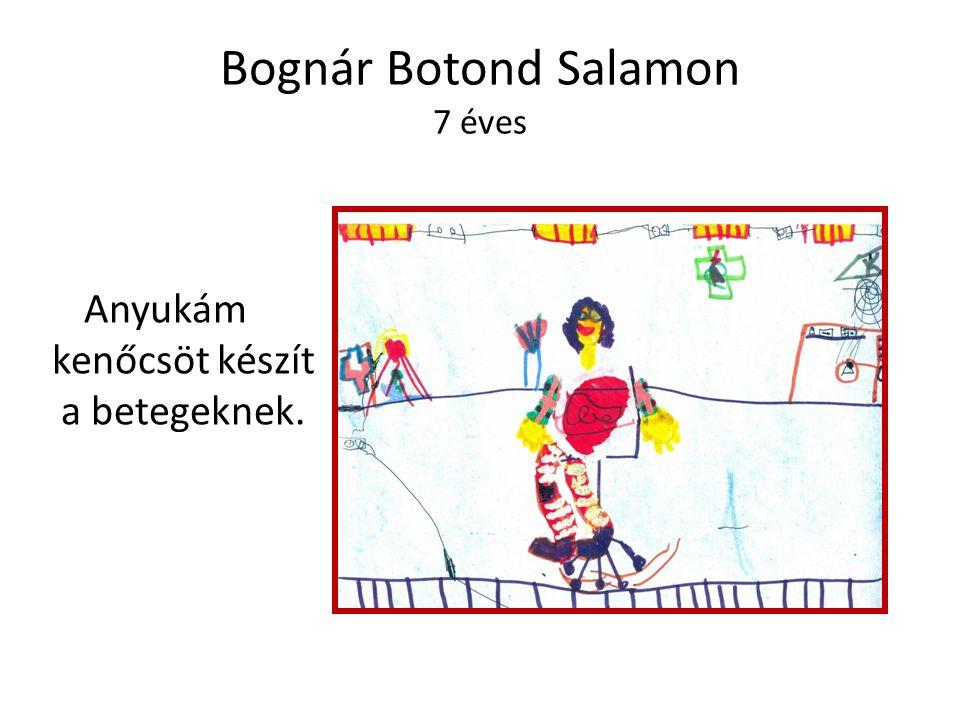 Bognár Botond Salamon 7 éves Anyukám kenőcsöt készít a betegeknek.
