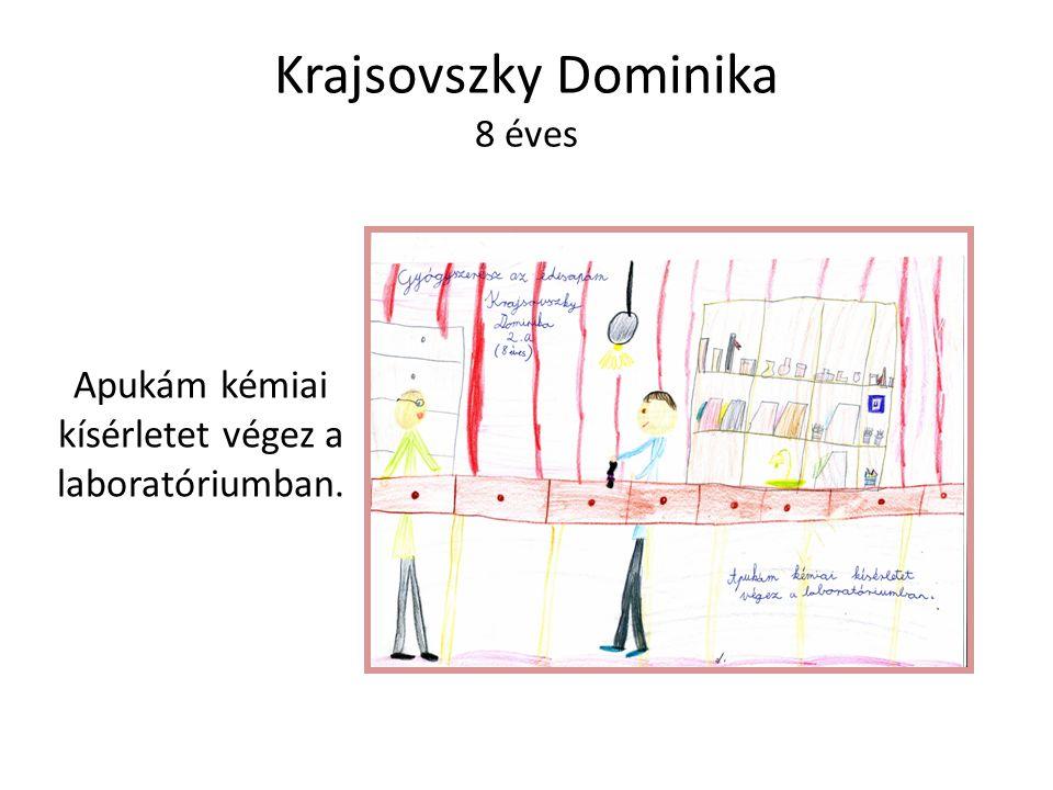 Krajsovszky Dominika 8 éves Apukám kémiai kísérletet végez a laboratóriumban.