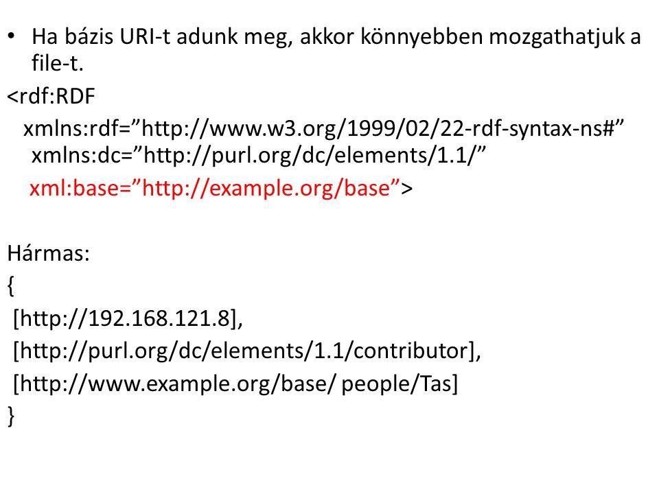 Ha bázis URI-t adunk meg, akkor könnyebben mozgathatjuk a file-t.