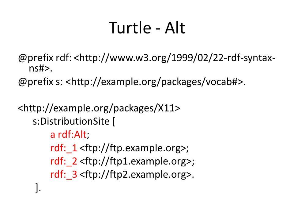 @prefix rdf:. @prefix s:. s:DistributionSite [ a rdf:Alt; rdf:_1 ; rdf:_2 ; rdf:_3. ].